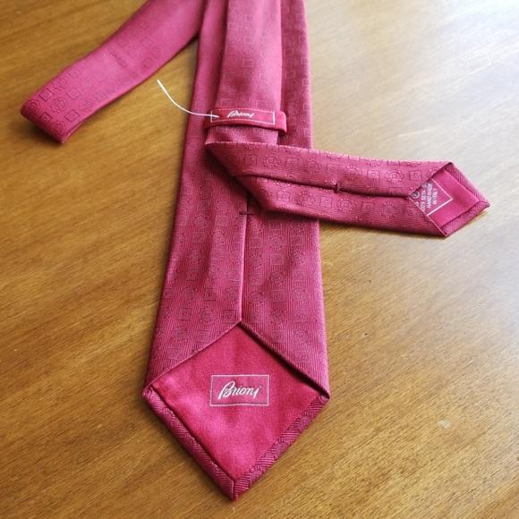 b0497c5ebebc Brioni Accessories | Deep Red Toneontone Silk Tie | Poshmark